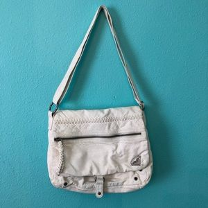 Roxy faux leather White crossbody purse